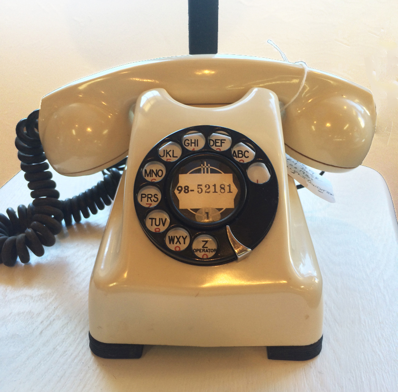 Kellogg Ivory Desk Set D-025 - Antique Desk Set Phones - The Olde Telephone Company